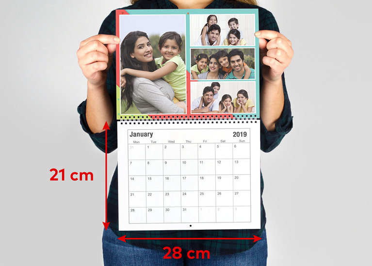 Hanging Calendar Design : Calendar photo wall vistaprint