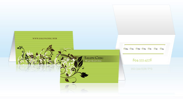Folded business cards tent cards vistaprint with twice the space of standard business cards you have the luxury of featuring your contact information an appointment card as well as a map and reheart Gallery